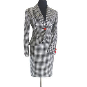 Vintage Hourglass Cropped Jacket Pencil Skirt Suit